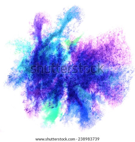 creative paint splash ink blue, violet stain watercolour blob spot brush watercolor abstract background texture_
