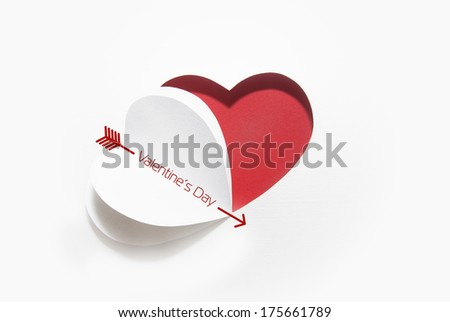 Creative paper heart - stock photo