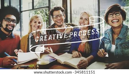 Creative Process Design Brainstorm Thinking Vision Ideas Concept - stock photo