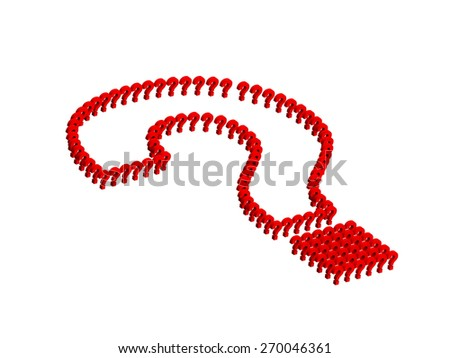 Creative Question mark symbol in red - stock photo