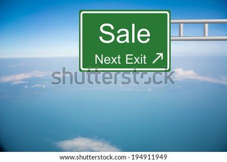 Creative Sale Road Sign  - stock photo