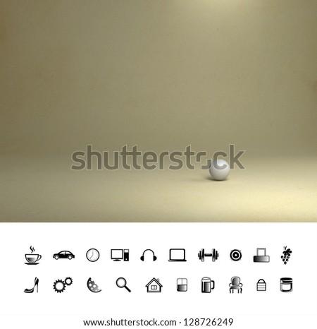 Creative sand background. Proffesional photo studio place. - stock photo