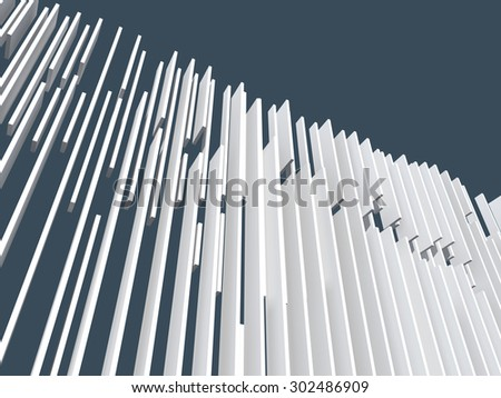Creative shapes conceptual background. Abstract architectural wallpaper. Isolated with clipping path