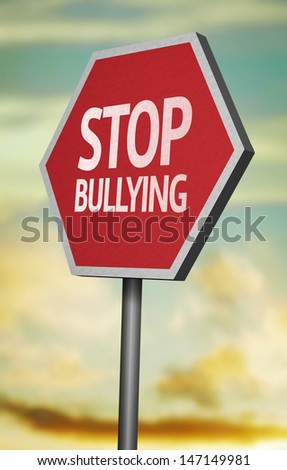 Creative sign with the message - Stop Bullying  - stock photo