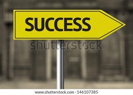 Creative sign with the message - Success - stock photo