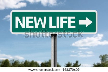 Creative sign with the text - New Life  - stock photo