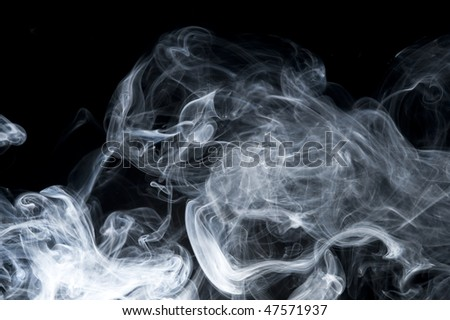 Creative smoke on black background. Abstract fumes