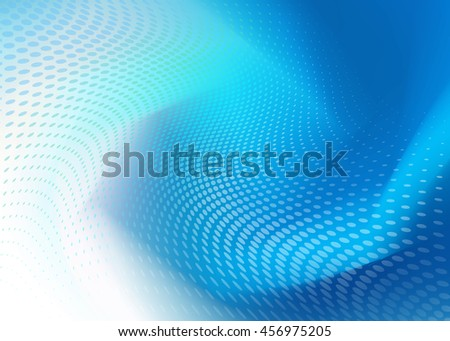 Creative Soft Abstract Cool Blue Dot Swirl Design on random same color Background Template perfect for growing healthcare and various other businesses. Plenty of space for text. - stock photo