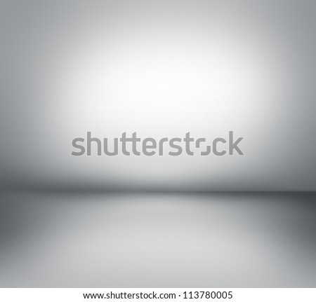 Creative technological background. Inside an empty room - stock photo