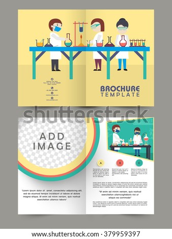 Creative Two Page Brochure Template Flyer Stock Illustration - Two page brochure template