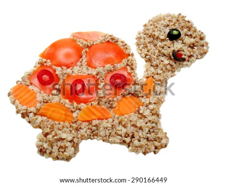 creative vegetable food meal tortoise form - stock photo