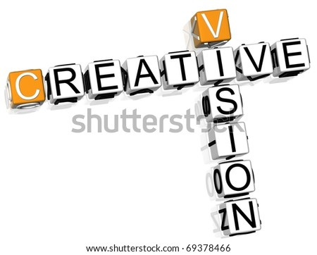 Creative Vision Crossword - stock photo