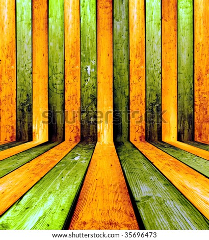 Creative Wooden Background. Welcome! More similar images available. - stock photo