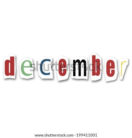 creative word  December - stock photo