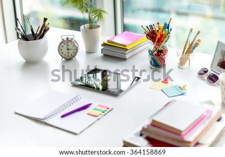 Creative Working Space - stock photo