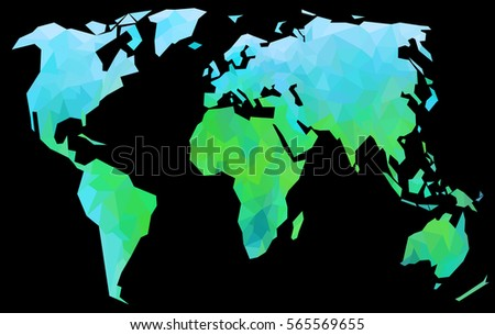 Creative world map bright green continents stock illustration creative world map bright green continents on black background gumiabroncs Images