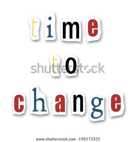 creative writing   time to change - stock photo