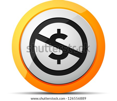 Creativecommons NS button - stock photo