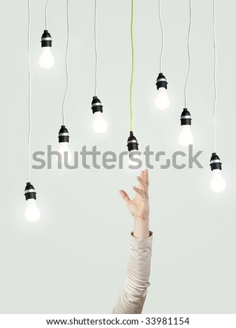 creativity  and energy concept - stock photo