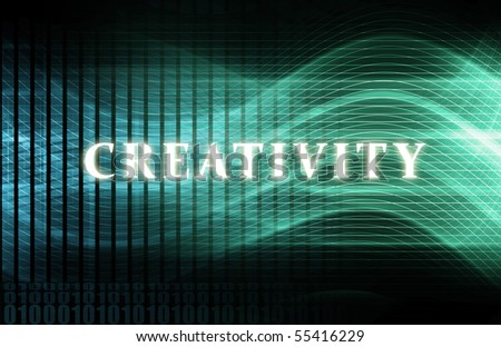 Creativity as a Abstract Background Concept Art - stock photo