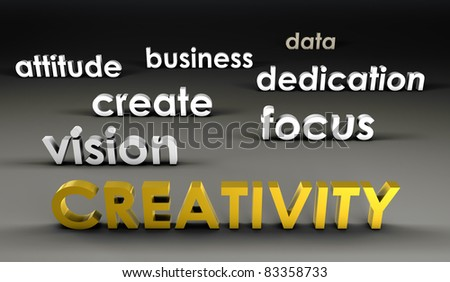 Creativity at the Forefront in 3d Presentation - stock photo