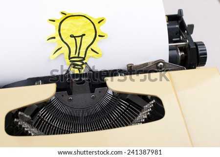Creativity Concept / For Authors Writers  - stock photo