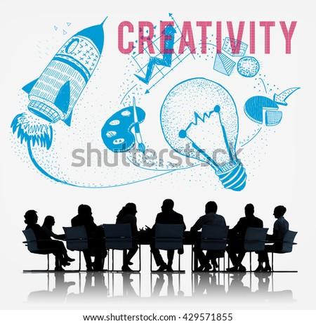 Creativity Ideas Imagination Light Bulb Concept - stock photo