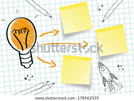 Creativity is a phenomenon whereby something new and valuable is created - stock photo