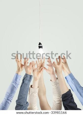 creativity , teams, energy concept - stock photo