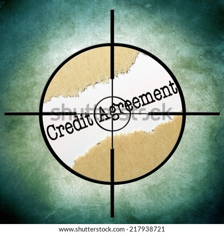 Credit agreement target - stock photo