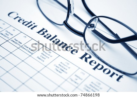Credit balance report - stock photo