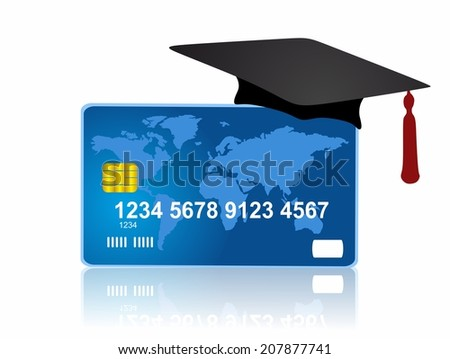 Credit card and education - stock photo