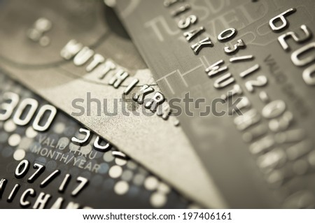 Credit Card Background by Macro shot - stock photo