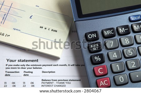 Credit Card Bill Payment - stock photo