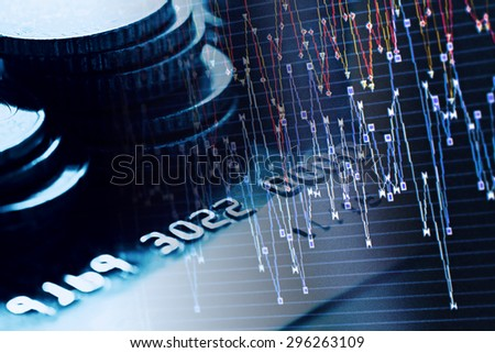 Credit card. Black and white style. - stock photo