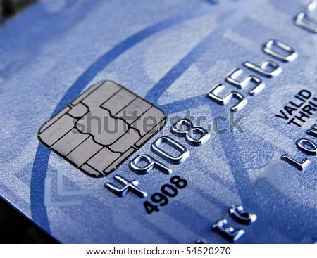 Credit card chip - stock photo