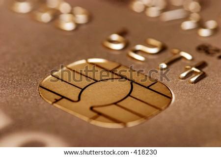 Credit card close up - stock photo