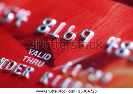 Credit Card Close-up, background - stock photo