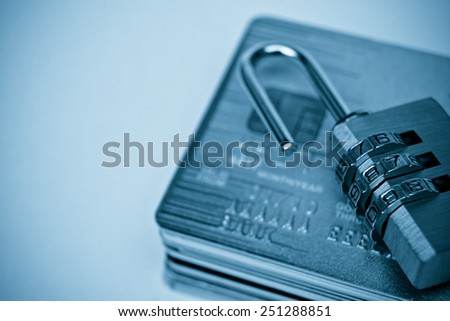 Credit card data decryption concept - stock photo