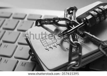 credit card data security - stock photo
