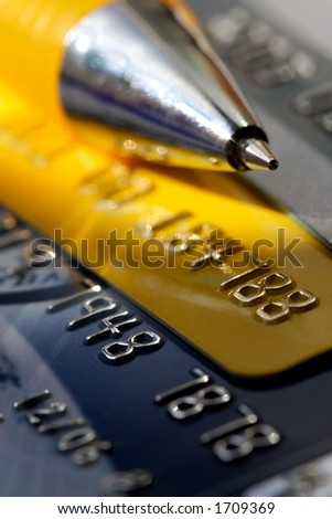 Credit card-financial background - stock photo
