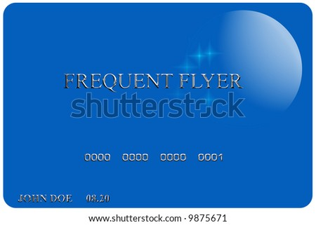 Credit card for frequent flyers - stock photo