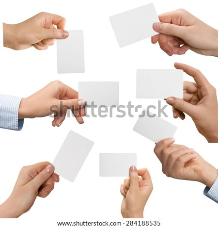 Credit Card, Human Hand, Consumerism. - stock photo