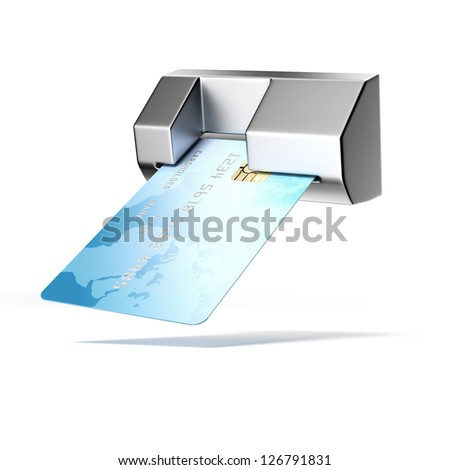 Credit card in atm