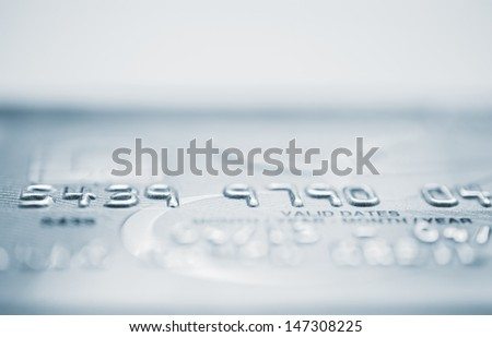 Credit card in shallow focus