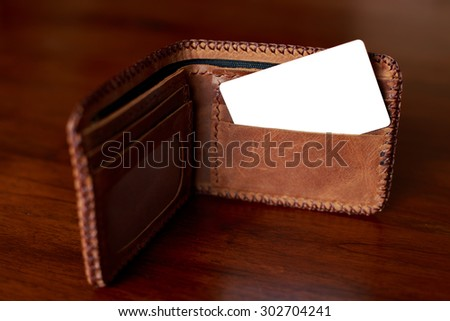 Credit card in the wallet. - stock photo