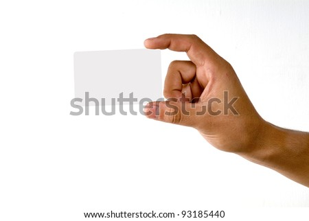 Credit card male hand holding - stock photo