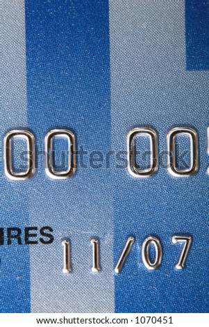 credit card number are faked - stock photo