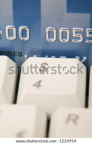 credit card numbers are faked - stock photo