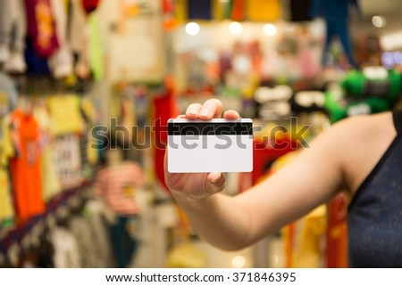 Credit Card On Customer Hand For Payment - stock photo